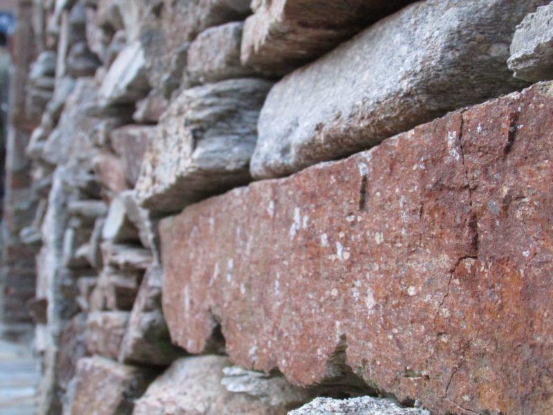 Pared de piedra en Couso Galán
