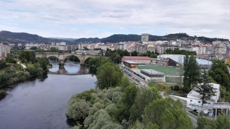 El puente Romano en la ciudad de Ourense