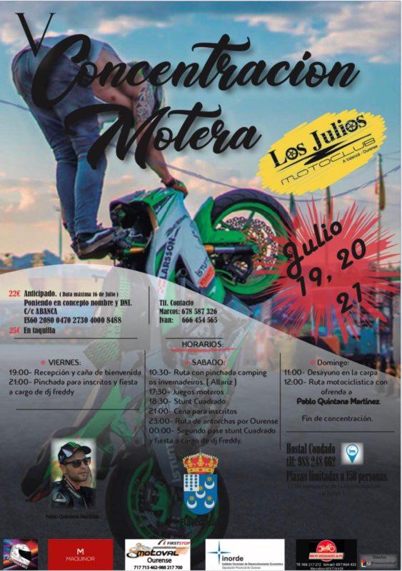 concentración motera Ourense