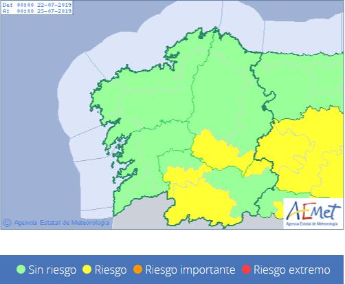 Alerta amarilla en Ourense