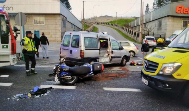 Grave accidente en San Cibrao