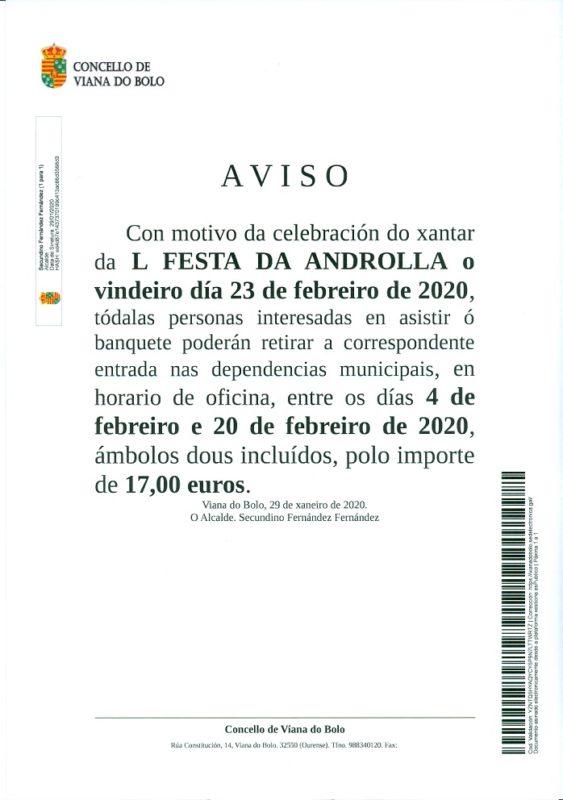 Festa da Androlla de Viana do Bolo