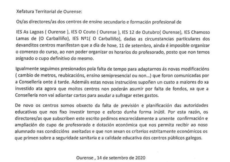 Rebelión en las aulas de Ourense