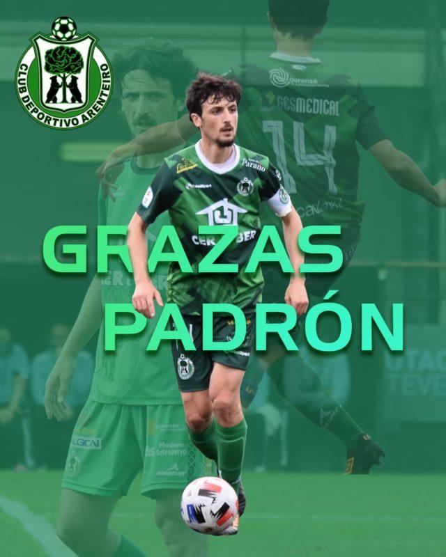 Adrián Padrón abandona el CD Arenteiro