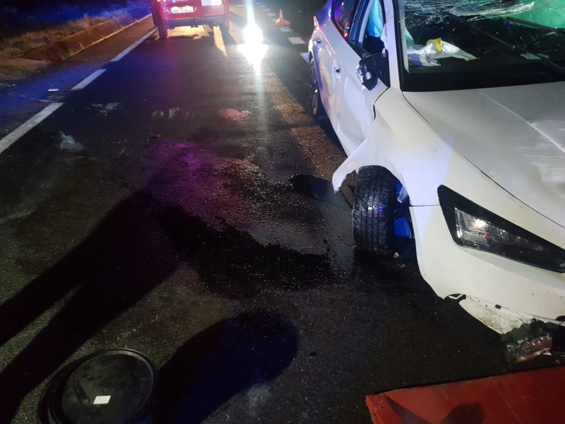 Aparatoso accidente en Bande