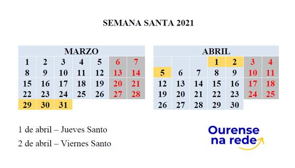 ¿Cuando es Semana Santa en 2021?