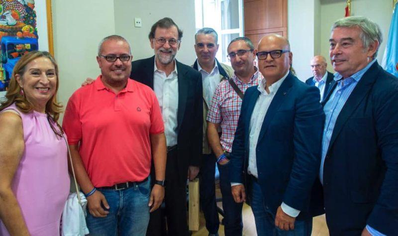 Ana Pastor, Cesar M. Fernández, Mariano Rajoy, Miguel Ángel Viso, Argimiro Marnotes, Manuel Baltar e Xosé Manuel Barreiro