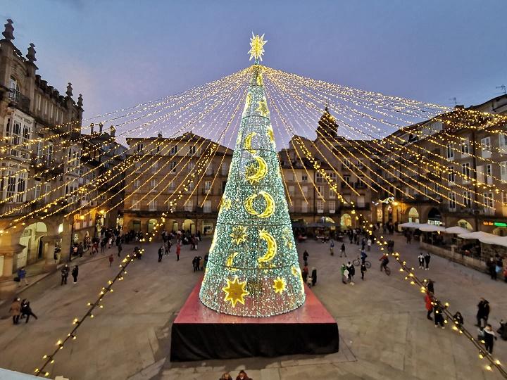 Ourense ya tiene alumbrado para la Navidad de 2021