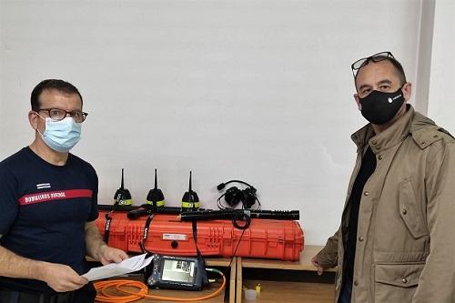 Cámara de visión térmica para los Bomberos de Ourense