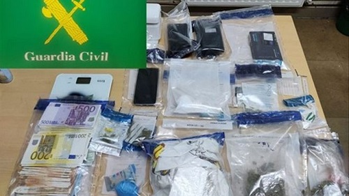 Desarticulan un punto de venta de drogas en Verín