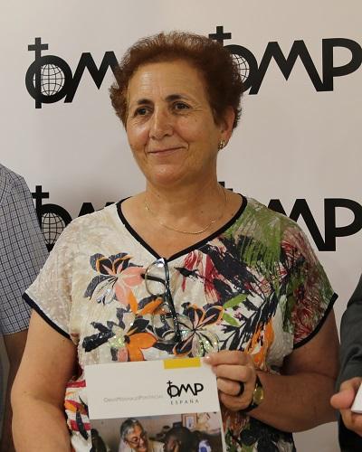 Josefa Ledo recibe un reconocimiento del Papa Francisco