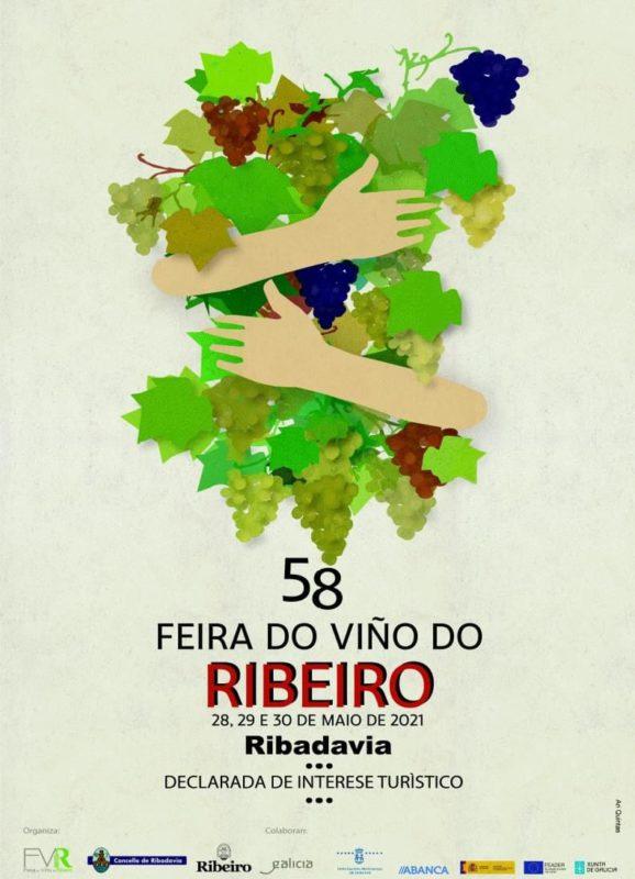 """cartel de la """"Feira do Viño do Ribeiro"""""""