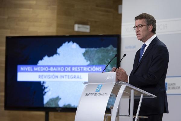 Importante alivio de restricciones en Galicia