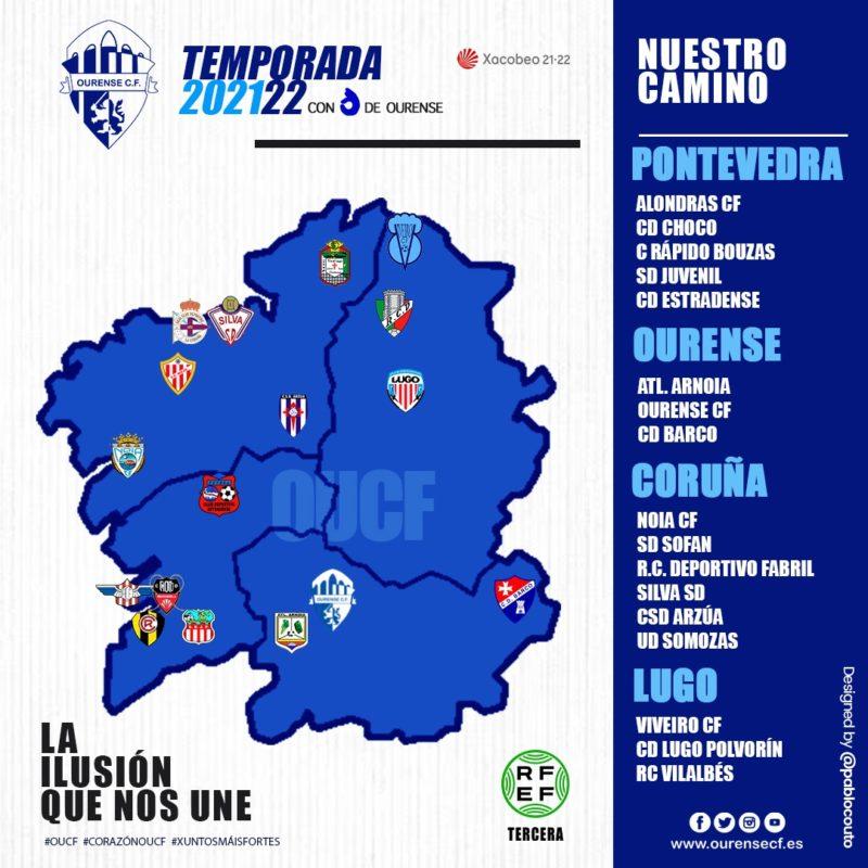 El Ourense CF ya conoce a sus rivales