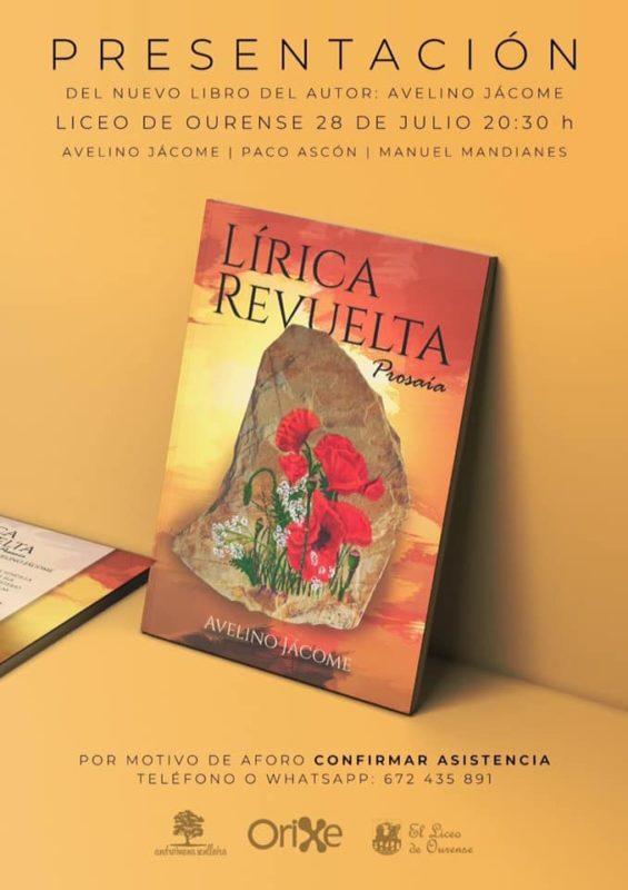 Avelino Jácome publica Lírica Revuelta