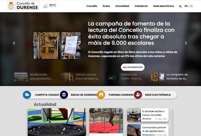 El ayuntamiento de Ourense estrena web