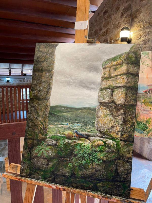 Antón Piñeiro ganó el concurso de pintura de Monterrei